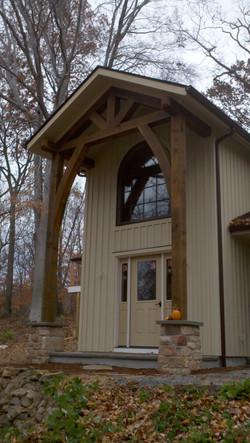 Custom Timber Frame Entry