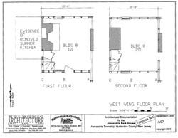 west wing floor plan1st & 2nd floors
