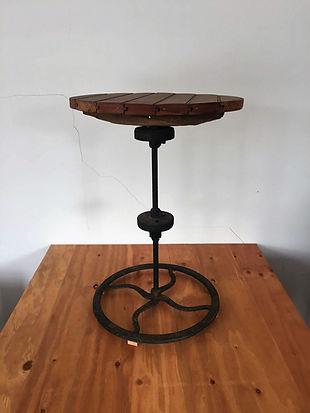 Repurposed Antique Wood Gear Stool
