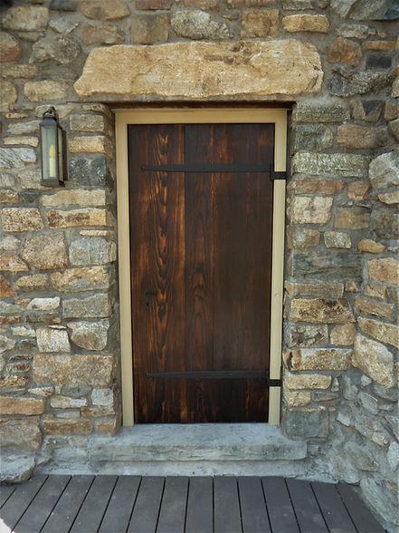 Antique Wood Door Cast Iron Straps