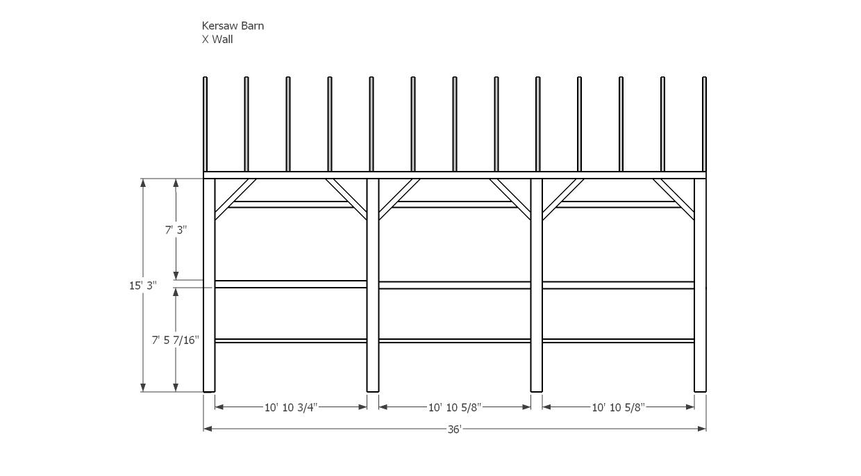 Kersaw Barn X Wall