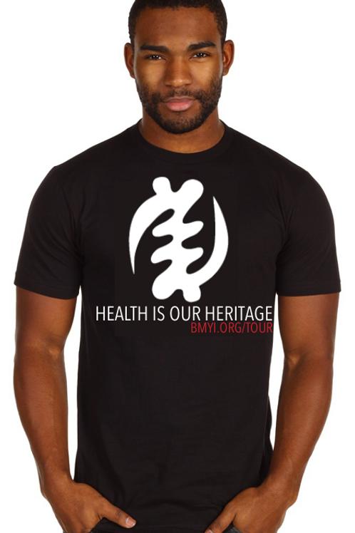 Health is Our Heritage Adinkra Tee