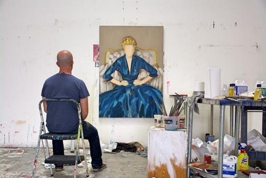 Gideon Rubin at La Brea Studio Artists residency, Los Angeles