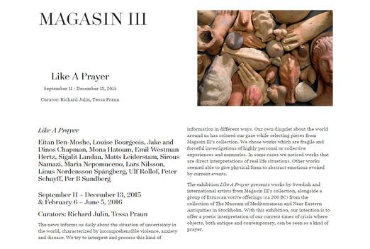 Eitan Ben Moshe at Magasin III: Like A Prayer, Sept. 11 - Dec. 13, 2015