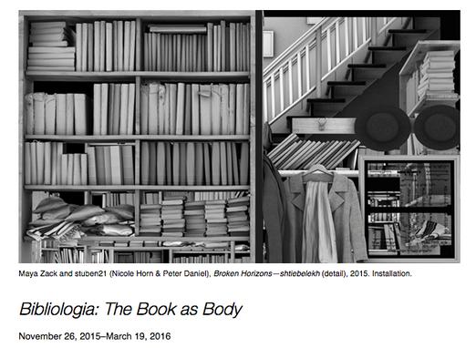 BIBIOLOGIA group exhibition featuring Maya Zack