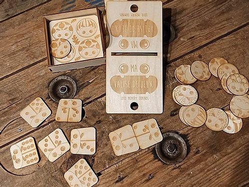 Boite de jeux en bois trio