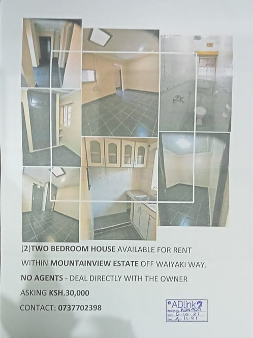 TWO BEDROOM FOR RENT