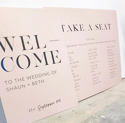 AMELIA WEDDING SIGN  - DIY PRINT