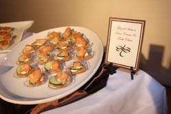 Glazed Salmon & Chive Bites