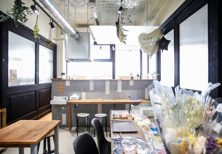 8/2  niko flower cafe stand、オープン!!
