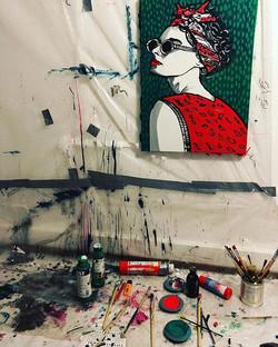 #schönesauerei #farbkleckse im #atelier