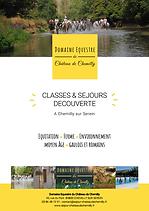 projet pédagogique Domaine Equestre du Château de Chemilly
