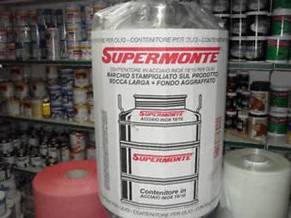 FUSTO ACCIAIO INOX  SUPERMONTE   LT 50