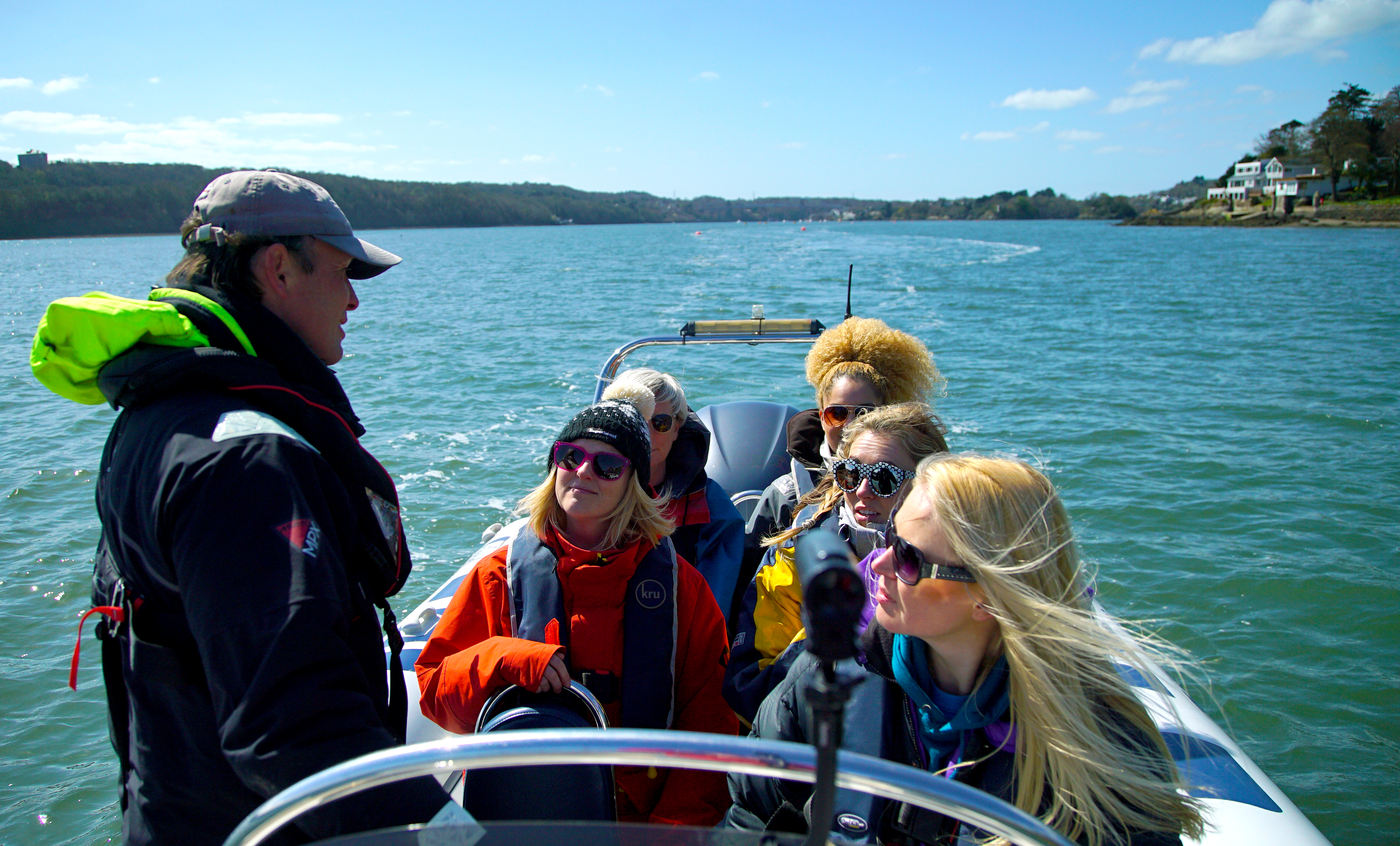 Guests aboard a Ribride on Anglesey