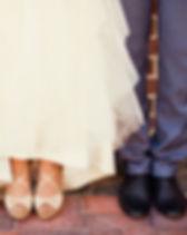 Les chaussures de jeunes mariés