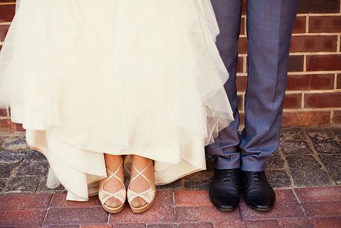 新郎新婦の靴
