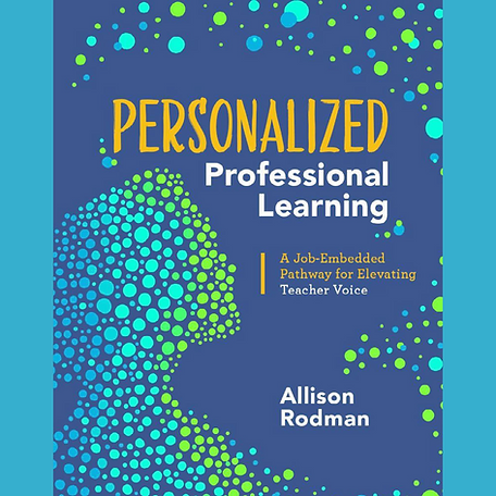 """Image is of book cover for """"Personalized Professional Learning"""""""