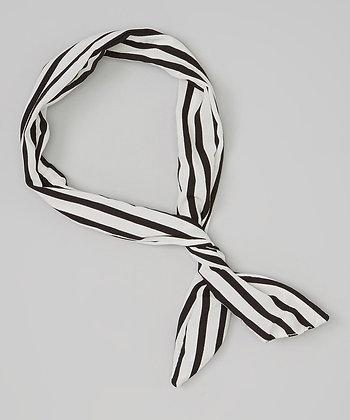My Twisted Tie- Black & White Stripe