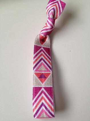 Lux Pink Tribal Hair Tie