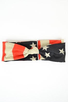 My Twisted Turbie- American Flag w/ knot