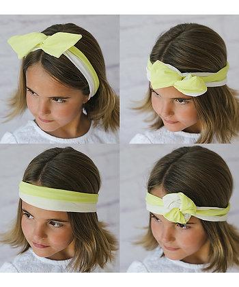 Yellow/White Swirl Twisted Tie