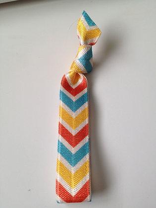 Lux Blue & Yellow Chevron Hair Tie
