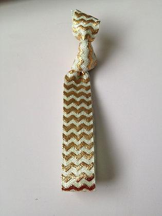Lux Gold Foil Chevron Hair Tie