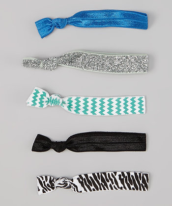 Mint Chevron and Blue 5 Pack