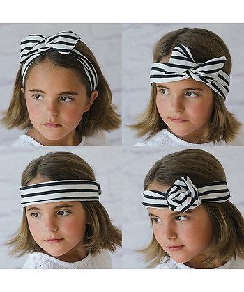 My Twisted Tie - Black/White Stripe