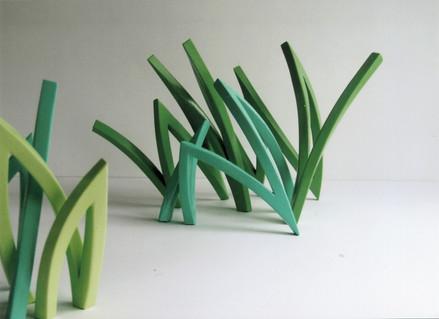 Vierkantstahl lackiert, grün, Wiesennotiz