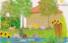 Illustration unseres Gartens