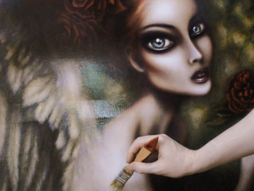 Video Angel Gabriel Painting by Tiago Azevedo Pop Surrealism Art 🦋
