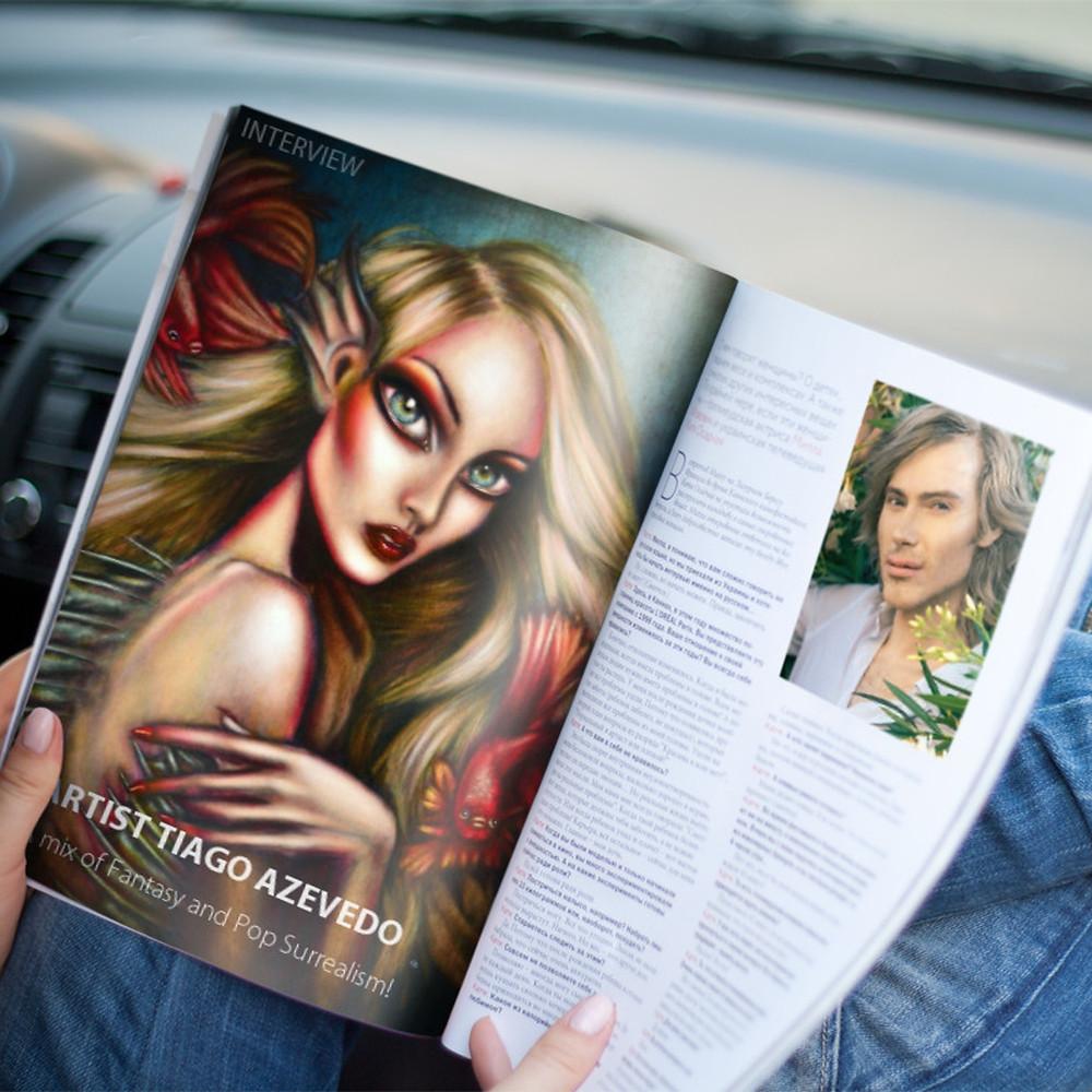 Tiago Azevedo painting  interview Lowbrow Pop Surrealism artist