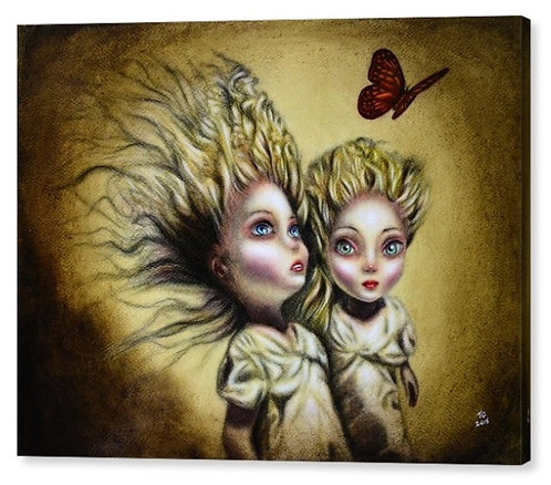 50cm x 70cm Canvas Print of The Two Sisters