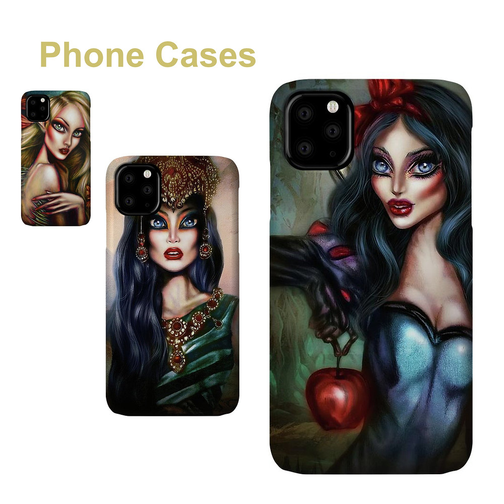 Snow White painting by Tiago Azevedo Lowbrow Pop Surrealism art phone cases