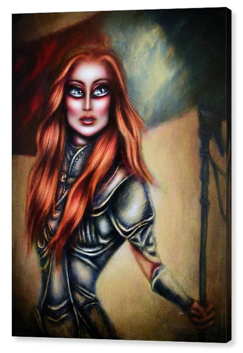 50cm x 70cm Canvas Print of Joan of Arc