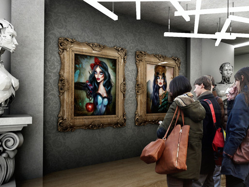 Pop Surrealism exhibit by Tiago Azevedo