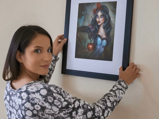 Snow White Painting Framed by Tiago Azevedo