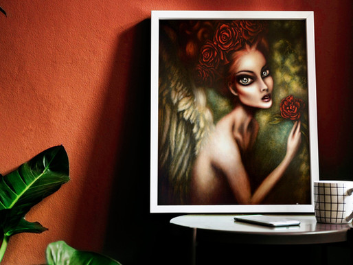 Angel Gabriel art print by Tiago Azevedo