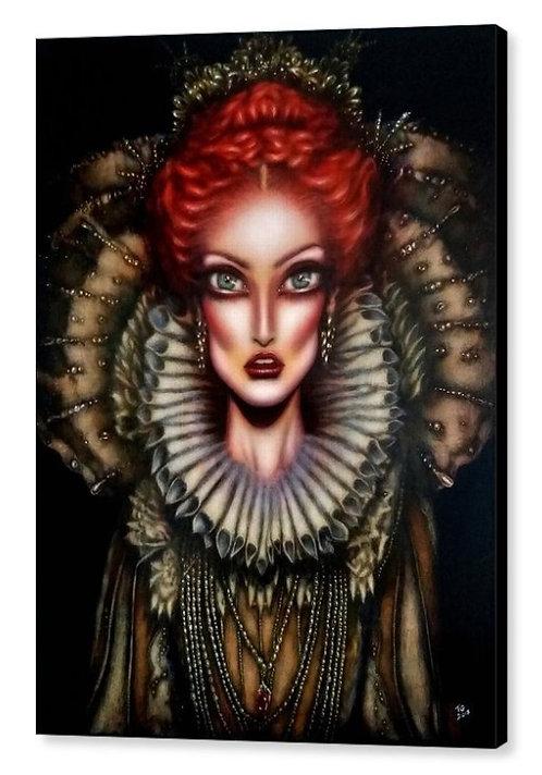 50cm x 70cm Canvas Print of Queen Elizabeth I