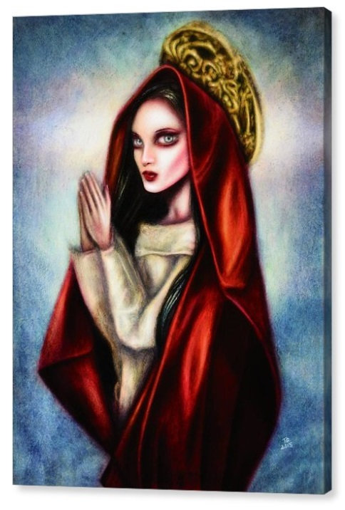 50cm x 70cm Canvas Print of Praying Virgin
