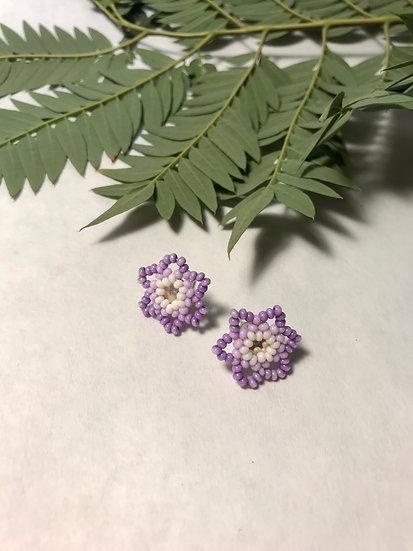 Purple Flower Studs