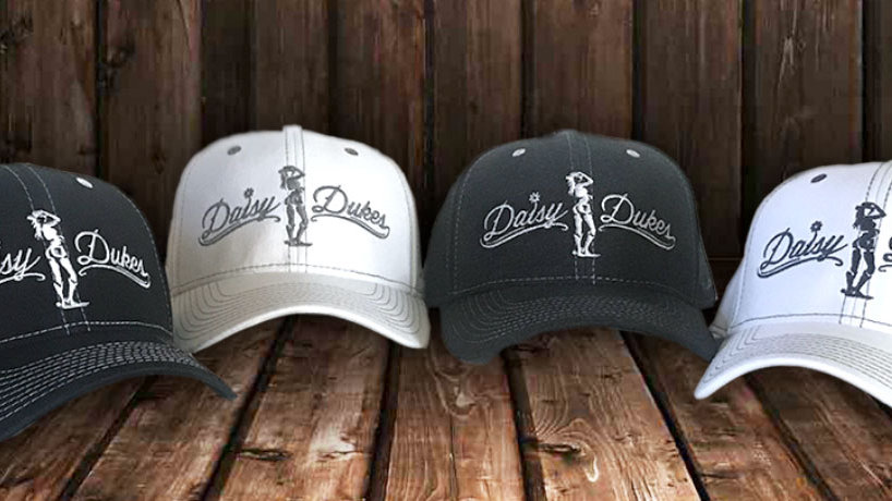 Daisy Dukes Fitted Hats (Black or White)