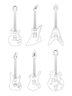 Guitars Vector Illustration - https://ziggytashi.com