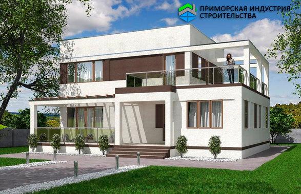 Проект современного дома B-003