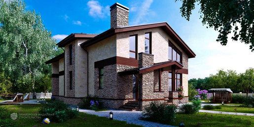 Проект двухэтажного дома A-001