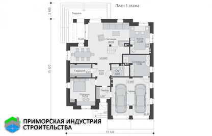Планировка второго этажа дома B-002