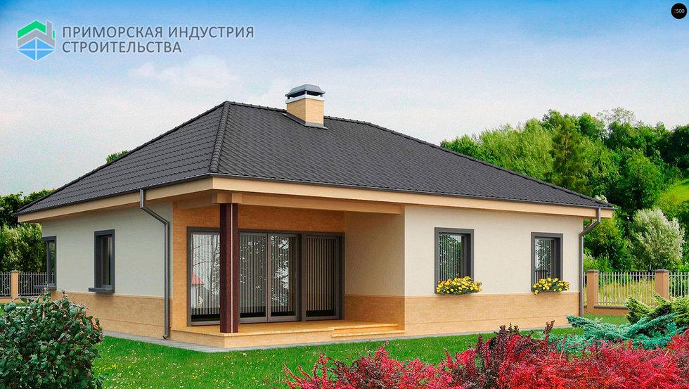 Проект одноэтажного дома А-005