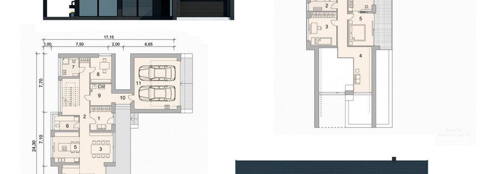 Поэтажная планировка дома FACHWERK-146