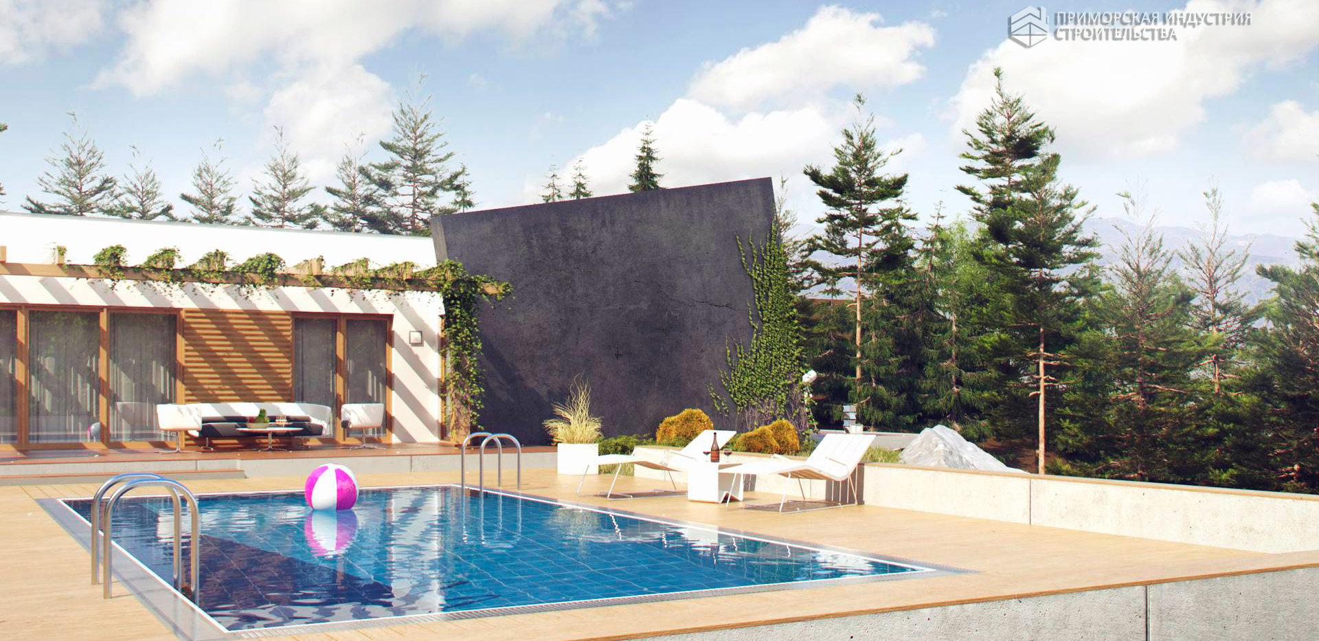 Проект современного дома HAUS-0-09